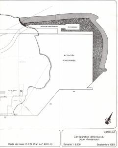 Étude répercussions environnementales extension port de Québec - Schéma extension Beauport - Moitié droite - 1983-09