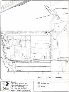 Étude répercussions environnementales extension port de Québec - Schéma extension Beauport - Moitié gauche - 1983-09