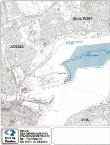 Pluram - Étude répercussions environnementales extension port de Québec - Schéma extension Beauport - Moitié gauche - 1981-11
