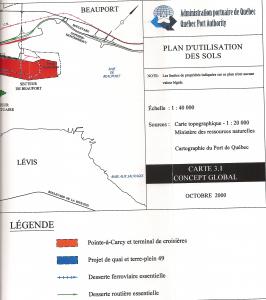 Port de Québec - Plan utilisation des sols - Expansion Beauport - moitié droite - 2000-10