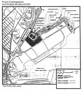 Projet aménagement battures de beauport - Plan PCRB - 1986