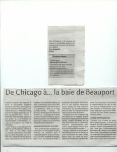 De Chicago à la Baie de Beauport - Le Soleil 2009-05